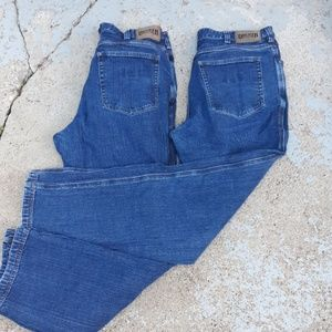 Two pairs of Duluth trading co flex ballroom jeans